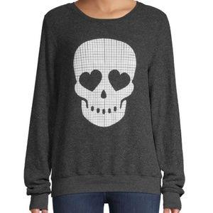 Wildfox Women's Sweatshirts Skull Face Pullover